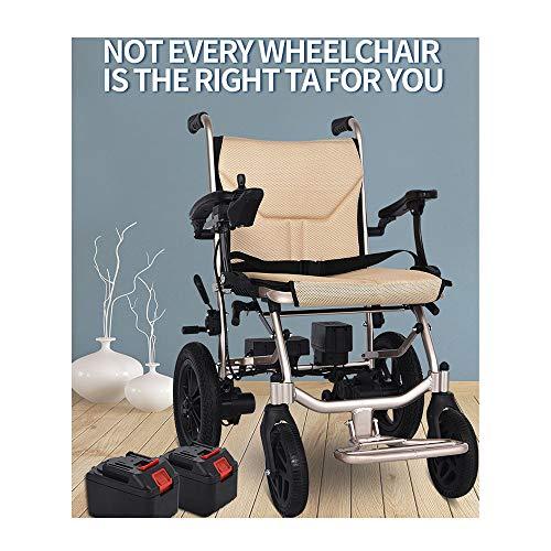 QWET weerbestendige exclusieve draagbare elektrische rolstoel, lichte elektrische rolstoel met twee batterijen en twee motoren