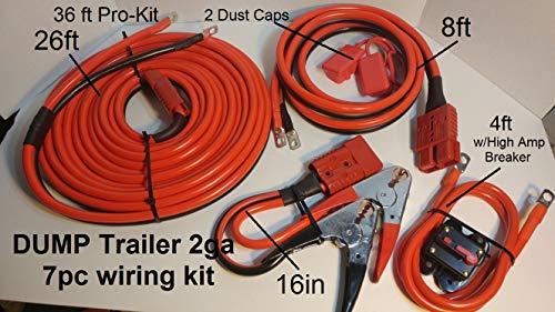 2Ga Permanent Installation 7pc Dump Trailer/Winch Kit 36ft Universal kit