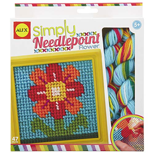 Alex Craft Simply Needlepoint Flower Kids Art and Craft Activity