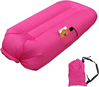 Lafuncosa Outdoor Inflatable Camping Couches- Nature Wind Inflate Sofa Portable Hiking Air Chairs Adult Inflatable Lounge Blow UP Air Sofa Bed