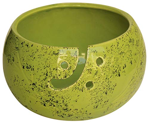 abhandicrafts - Ceramic Yarn Bowl for Knitting, Crochet for Moms - Beautiful Gift on All Occasions Best for Moms Dads