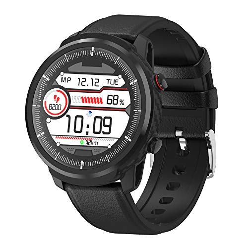 Smart Watch for Android iOS Phones, IP68 Waterproof Smart Watch, Fitness Tracker Smartwatch with Blood Pressure Heart Rate and Sleep Monitor, Smartwatch Compatible iPhone Android Phone for Men-2 Bands