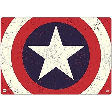 Grupo Erik - Sous-Main Bureau Marvel Captain America Bouclier, Sous-Main Bureau Enfant, Protège Bureau Enfant 34 x 49cm TSEH301