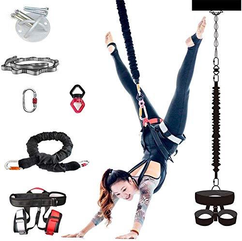 SMAA Bungee Cord Pesada Resistencia Cinturón Gimnasio en casa antigravedad Yoga Trainer Tire la Cuerda, la Cuerda Bungee Yoga Gravedad Formación Bungee Herramienta Ideal para el Gimnasio en casa,60kg
