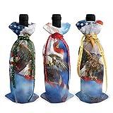 Bolsas para decoración de botellas de vino con diseño de bandera de Estados Unidos