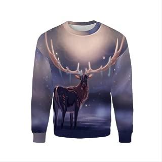 AHJSN Men Women S-4xl Santa Claus Christmas Novelty Ugly Christmas Sweater Snowman 3d Printing Hooded Sweater 4XL 8