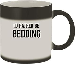I'd Rather Be BEDDING - 11oz Ceramic Matte Black Color Changing Mug, Matte Black