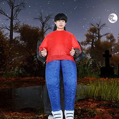 QiruIXinXi Disfraz Inflable de Halloween, Disfraz de Fantasmas de Calabaza de Dibujos Animados Divertidos a Prueba de Agua, para Adultos, decoración(Fantasmas Negros X131)