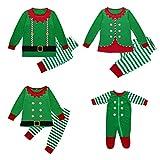 K-youth Conjunto de Familiares Ropa De Dormir Pijama de Navidad Rayas Camisetas de Manga Larga Mujer Hombre Bebé Niño Niña Mono Traje De Navidad Pijama Familia(Papá/Dad, L)