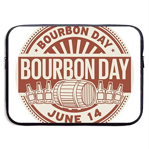 Laptop Case Bag Bourbon Day, 14 giugno, timbro di gomma, illustrazione vettoriale Laptop Bag 15 pollici