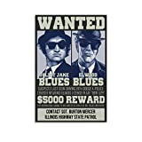 Poster auf Leinwand, Motiv: Wanted The Blues Brothers, 30 x