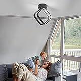 Osairous Lámpara de Techo LED, Moderna Plafon Techo de Acrílico 18W, Luz de Techo LED Variable de Tres Colores para el Pasillo de la Cocina del Dormitorio 2800 hasta 8000K