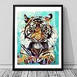 Danjiao Aquarell Nordic Tier Löwe Tiger Kunstdrucke Poster