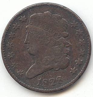 1828 Classic Head 13 Stars Half Cent Very Fine Details