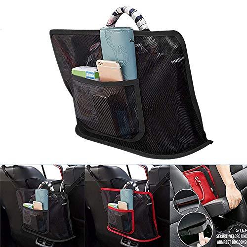 Car Cache - Pocket Handbag Holder Car Net Seat Back Organizer Mesh Large Capacity Bag for Purse Storage Phone Documents Pocket, Barrier of Backseat Pet Kids - Driver Storage Netting Pouch