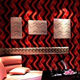 Reflektierende Tapete Beliebte dedizierte vertikale Streifen Welle Ballsaal Themenraum 3D Hintergrund Tapete-Rot Schwarz