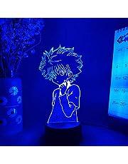 3D-illusion LED nattlampa siluett av Killua LED anime belysning 3D lampa natt bordslampa jägare x jägare Otaku ljus gåva manga fans rum dekor 7 färger touch förändring