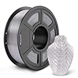 SUNLU PETG 3D Printer Filament, 3D Printing PETG Filament 1.75 mm, Strong 3D Filament, 1KG Spool (2.2lbs), Transparent