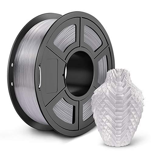 SUNLU PETG 3D Printer Filament, 3D Printing PETG Filament 1.75 mm, Strong 3D Filament, 1KG Spool (2.2lbs), Transparent