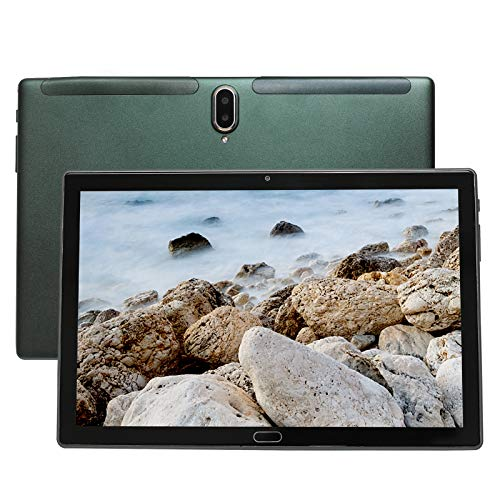 Tablet 10 pollici, 4G LTE UCSUOKU Tablet PC Android 10, 4 GB RAM 64 GB ROM Processore Deca Core, touchscreen HD, fotocamera 5MP + 8MP GPS WiFi Bluetooth 5.0 scheda TF di tipo c tutto metallo (Verde)