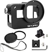 Aluminum Case Frame for GoPro Hero 6 Hero 5 with 52mm UV Filter Skeleton Housing,Compatible gopro LCD Touch bacpac with Microphone Mic Mount for GoPro Hero6 Hero5- Best Protection