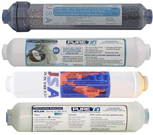 4 Filter Set for 5-Stage Alkaline Countertop Reverse Osmosis Revolution Systems