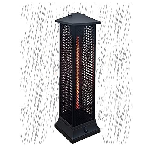 JKGCHKJYTYH Eléctrico Calefactor De Infrarrojos,Portátil Calentador De Terraza Ip55 Impermeable a Prueba De Salpicaduras Calefactor Vertical Estufa Calentador Protección contra Vuelcos
