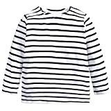 Kids Boys Girls T-Shirt Baby Star Striped Long Sleeve O Rong BFF Tee Tops