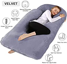Chilling Home Pregnancy Pillow, 60 inches Full Body Pillow Maternity Pillow for Pregnant Women, Comfort U Shaped Zootzi Pillow with Removable Washable Velvet Cover(Grey, 60 x 28 inches, Full Size)