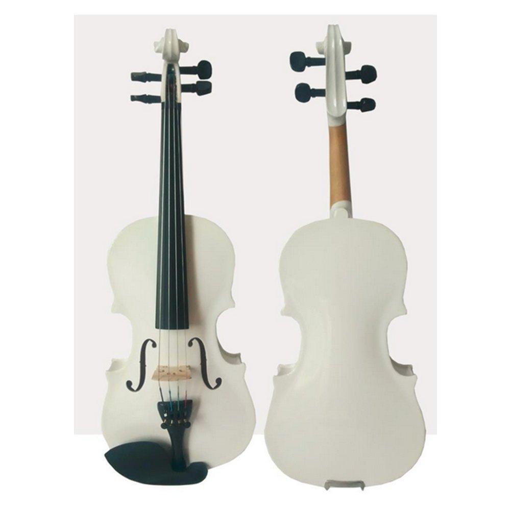 Madera maciza violín Arce abeto con estuche y colofonia) instrumento almohadillas blanco: Amazon.es: Instrumentos musicales