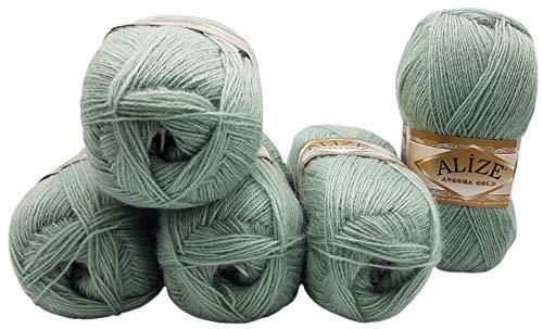 5 ovillos de lana Alize Angora Gold de 100 g con 20...