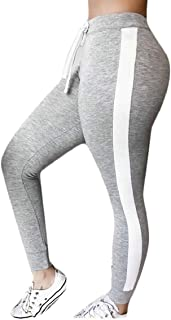 Hokny TD Womens Fashion High Waist Sweatpants Yoga Jogger Legging Army Green Small