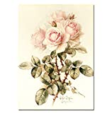 Moderne Wohnzimmer Wand Aquarell Rosa Rose Leinwand Poster