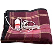 Comfort Wool Single Bed Electric Blanket (Multicolour)