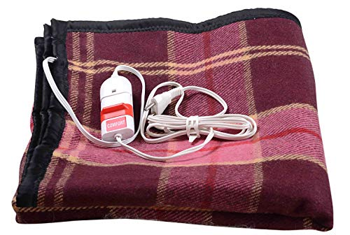 Comfort Wool & Wool Blend 250 TC Electric Blanket (Single_Multicolour)