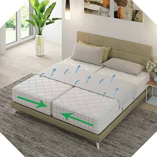 Liebesbrücke Für Matratzen weiß von Bedbinders | Universell | Verbindet zwei Matratzen zu einer großen Liege-Fläche | Beenden Sie das Verrutschen mit dieser Matratzenhalter