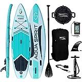 AQUA SPIRIT Paddleboard Green Tabla para Surf de Remo, Unisex, 10 pies Tempo Verde, 300cm...
