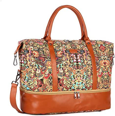 BAOSHA HB 28 Women Ladies Travel Weekender Bag Overnight Carry on in Trolley Handle HS with product image