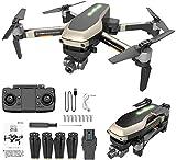 QqHAO Drone GPS Plegable X1 Pro con cámara 5G WiFi 4K FPV para Adultos de Dos Ejes con Motor de Retorno automático a casa Sígueme Rango de Control Largo