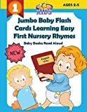 Jumbo Baby Flash Cards Learning Easy First Nursery Rhymes Baby Books Read Aloud...