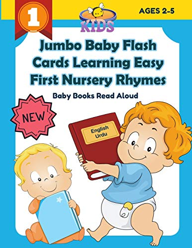 Jumbo Baby Flash Cards Learning Easy First Nursery Rhymes Baby Books Read Aloud English Urdu: 100+ colorful picture flashcards games rhyming words ... children distance learning kids ages 2-5