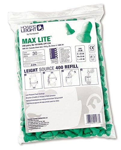 Honeywell 1013048 Howard Leight Max Lite oordopjes, SNR 34 dB (Pak van 200 paar - LS400 Refill)
