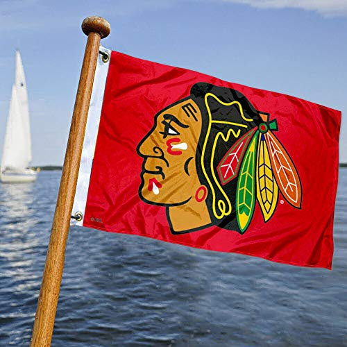 WinCraft Chicago Blackhawks Red Boat and Golf Cart Flag