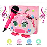 Karaoke Bluetooth Machine for Kids with Microphone Karaoke Wireless Singing Portable Player Speaker for Home Outdoor...