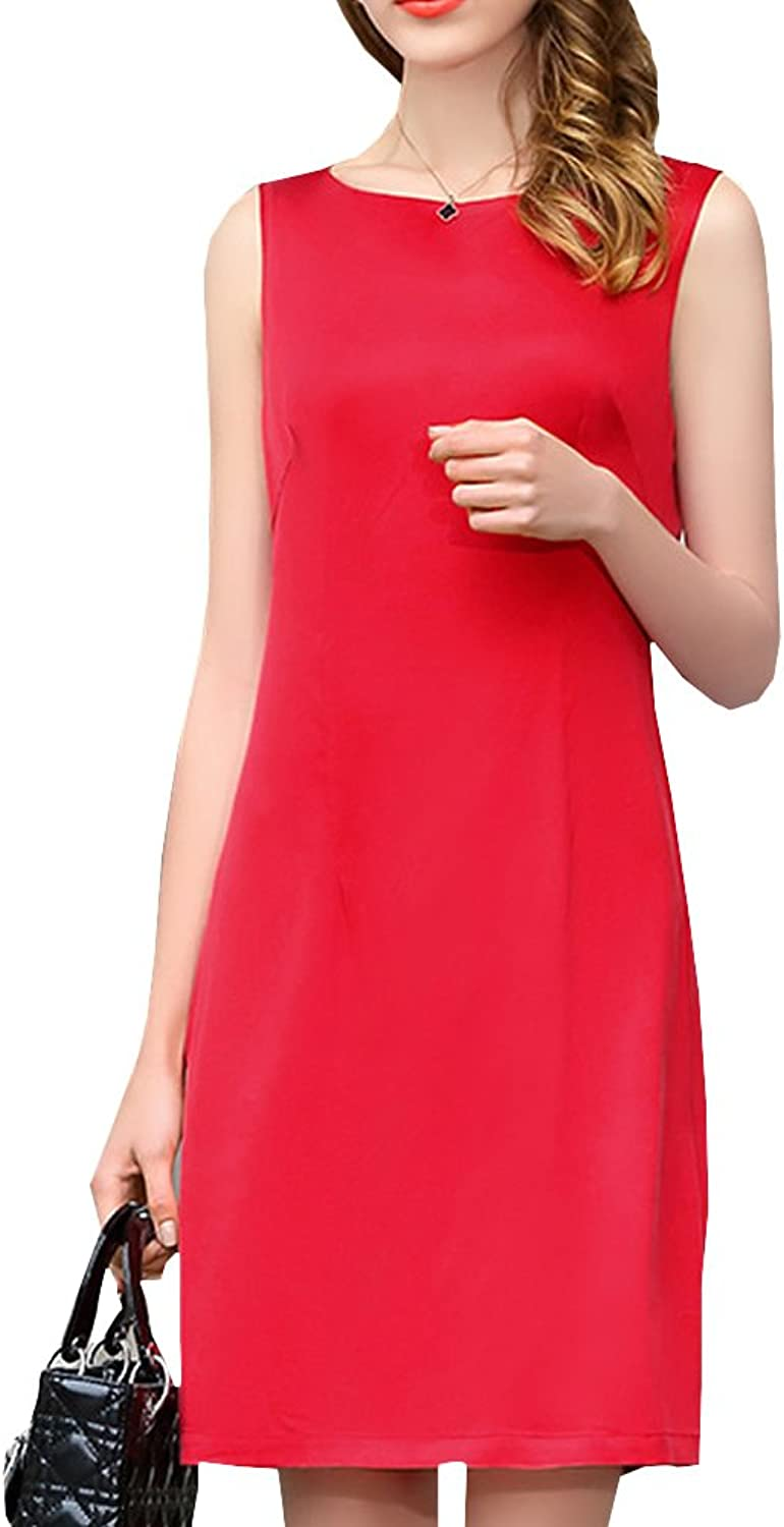 Dissa S9913 Women Vintage Short Sleeve KneeLong Cocktail Plus Size Silk Summer Dress