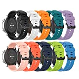 Silicone Bands Compatible with Virmee VT3 Plus Strap Soft Replacement Sport Wristband Bracelet Arm Band for Virmee VT3 Plus Smartwatch, Multicolor Selection