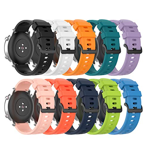 Silicone Bands Compatible with Fossil Gen 5 Carlyle/Julianna/Garrett/Gen 5E 44mm Strap Quick Release Soft Replacement Sport Wristband Bracelet Arm Band for Fossil Gen 5 Smartwatch