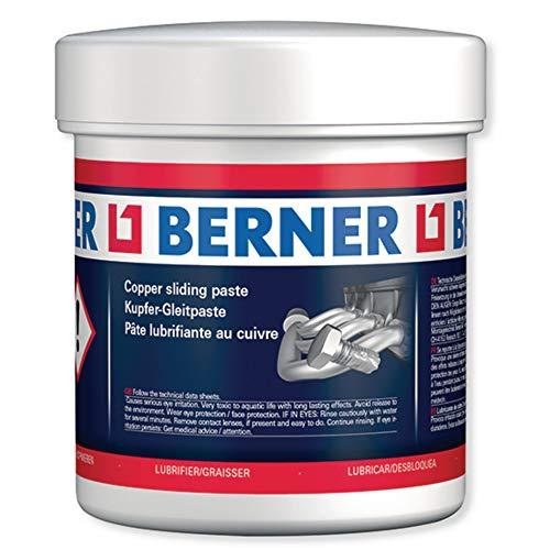 Berner Grasa de cobre antigripante, apta para altas temperaturas, 500 g