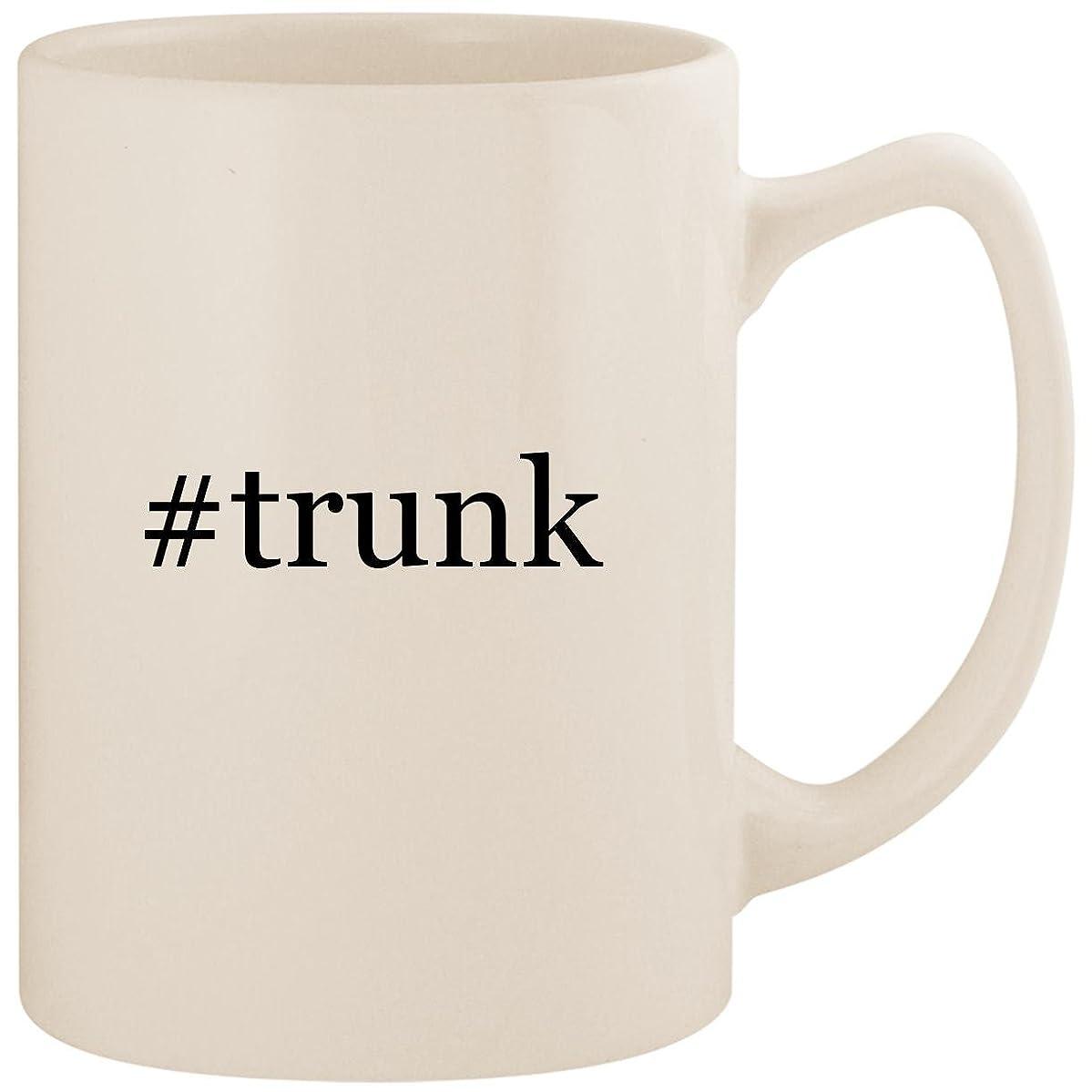 #trunk - White Hashtag 14oz Ceramic Statesman Coffee Mug Cup