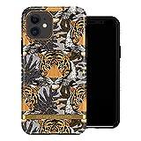 Funda de Richmond and Finch diseñada para iPhone 11, Funda Tigre Tropical para iPhone 11 con Detalles de Oro - Negro